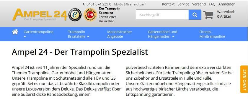 Ampel 24 Homepage