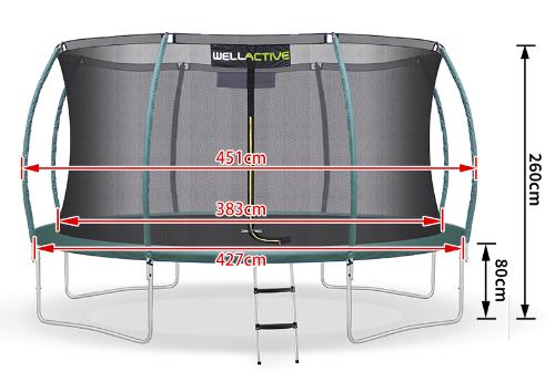 Wellactive Trampolin 430 cm kaufen